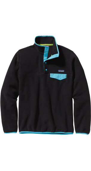 Patagonia W's Synchilla Snap T Pullover Black W Ultramarine